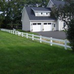 Vinyl Rail Fence by Burns Fencing