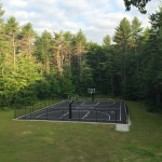 Chain Link Fence Surrounding Basket Court
