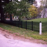 Ornamental Fence with Stone Posts