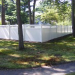 Vinyl Privacy Fence with Lattices