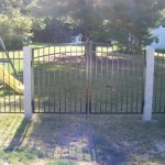 Granite Posts Ornamental Fence Gate