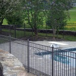 Ornamental Fence Surrounding Pool