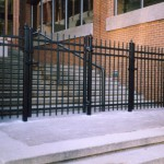 Ornamental Fence Commercial Building