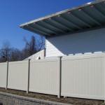 Vinyl Fence Surrounding Building