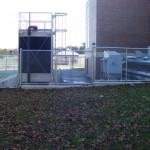Industrial Chain Link Fence Surrounding Generator