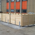 Dumpster Enclosure Horizontal Board