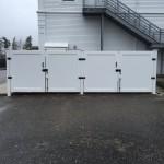 Vinyl Dumpster Enclosure