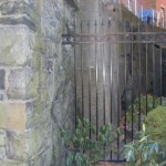 Ornamental Fence Attached to Wall