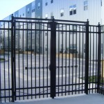 Ornamental Fence with Crash Bar
