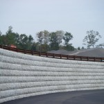 Guardrail Top Stone Wall
