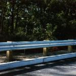 Wood Post Steel Guard Rail
