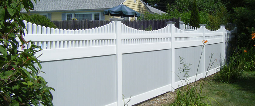 Picture Vinyl Fence Installed Burns Fencing