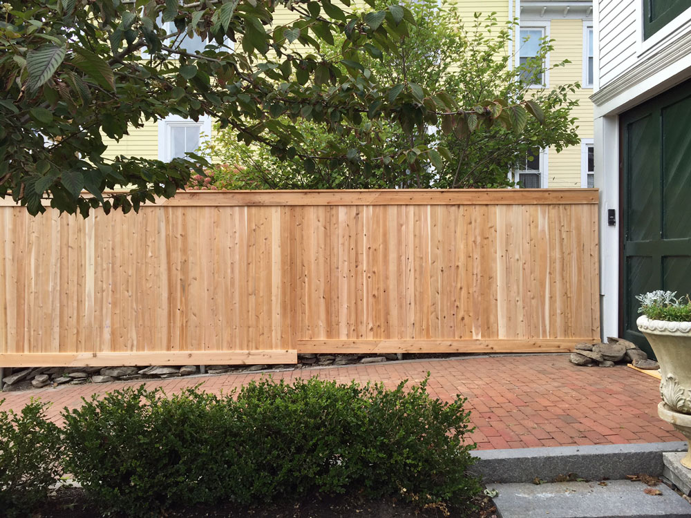 Decorative Wood Fencing Maine