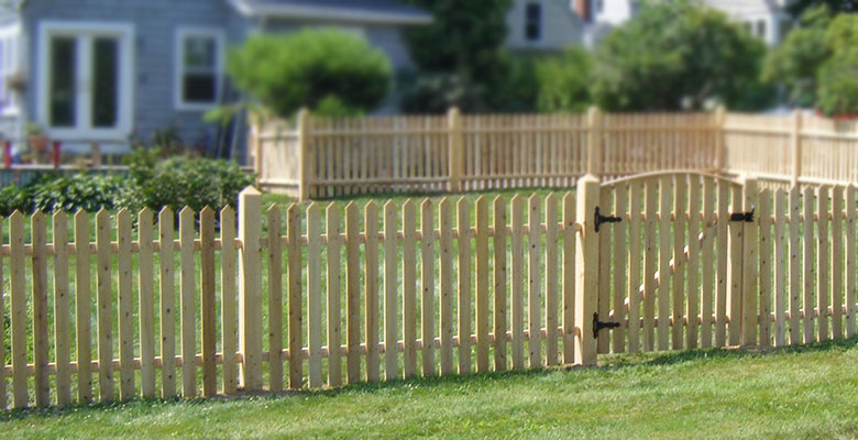Picture Of Picket Fence In Maine